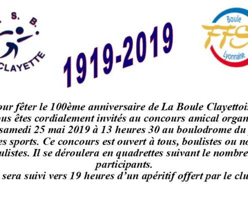 invitation concours 100 ans